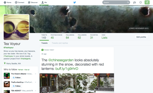 New Twitter profile view